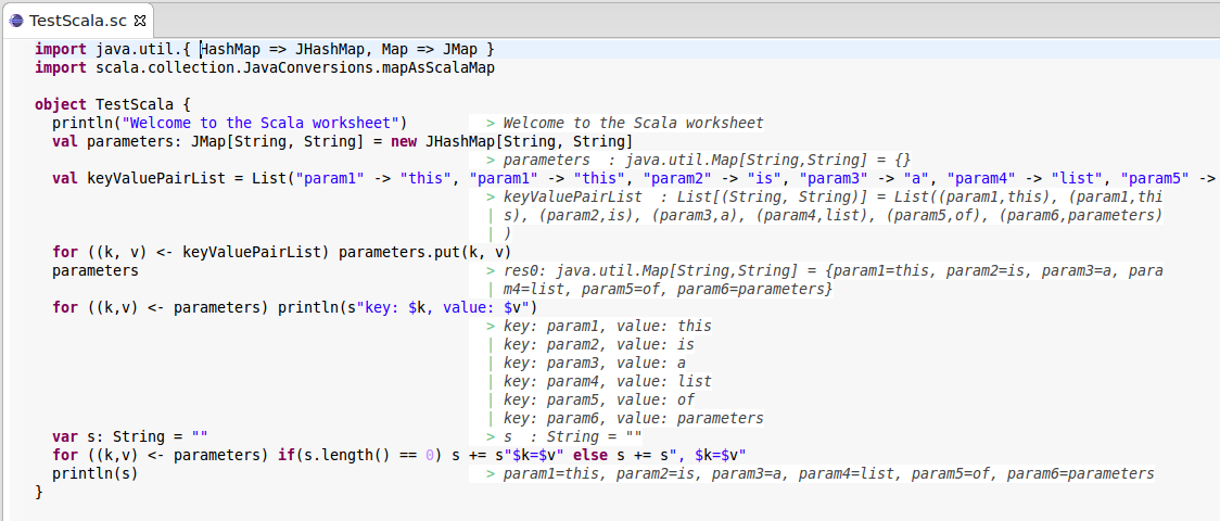 {Learning Scala the interactive way with Scala Worksheet in Eclipse – Scala Worksheet