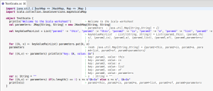 Example of interactive learning with Scala Worksheet in Eclipse